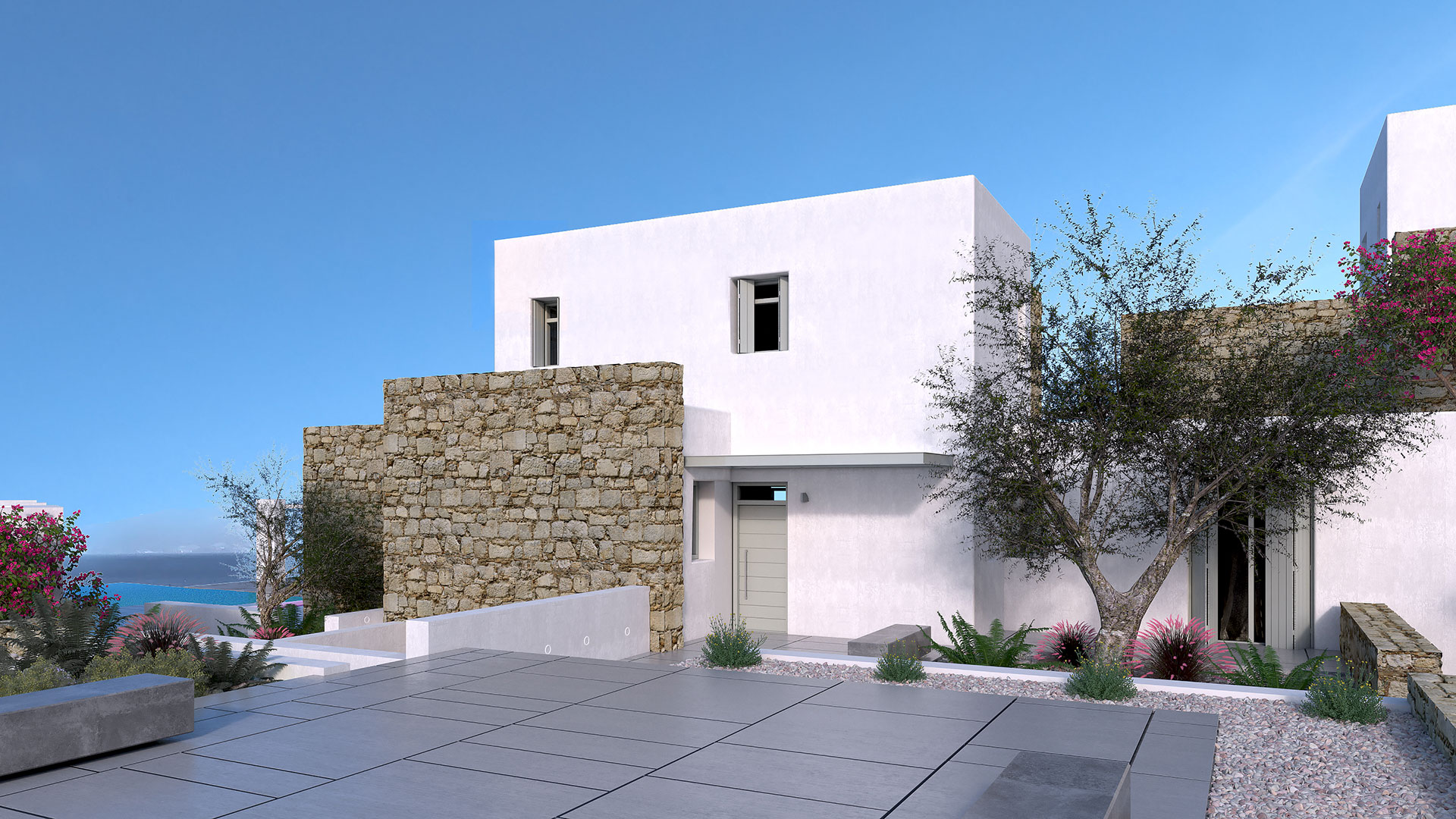 Santa Maria Villa A Exterior 3, Paros - 1FORTY1 Estate Developers