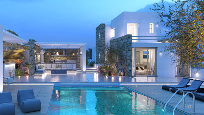 Santa Maria Villa B Exterior 1, Paros - 1FORTY1 Estate Developers