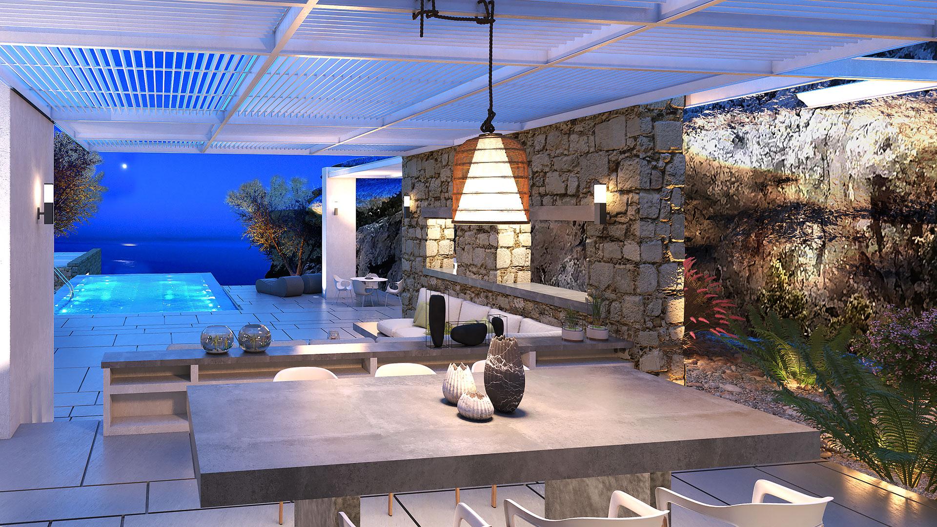 Santa Maria Villa B Interior 1, Paros - 1FORTY1 Estate Developers