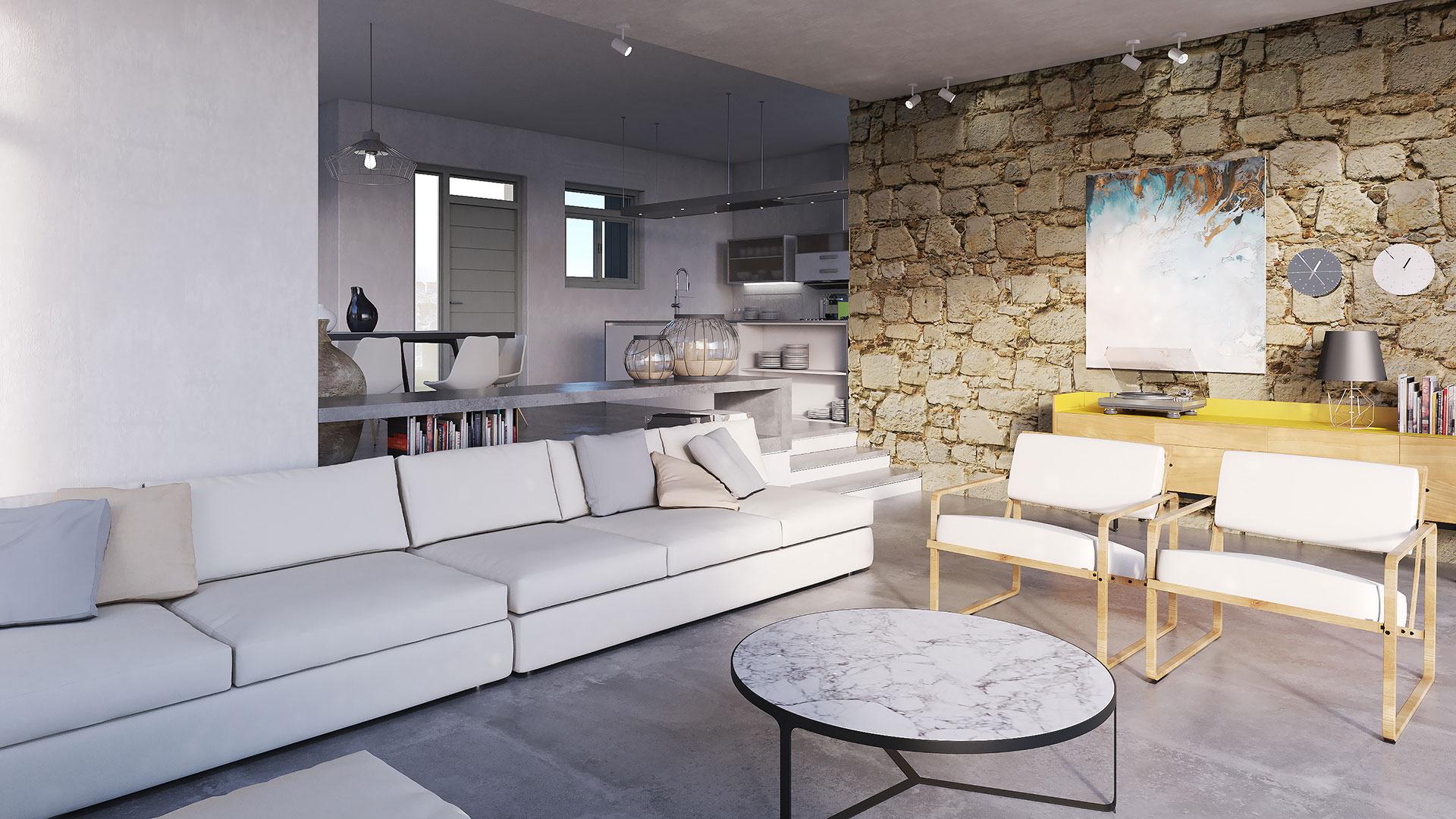 Santa Maria Villa B Interior 3, Paros - 1FORTY1 Estate Developers